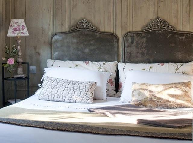 landelijk romantische slaapkamer