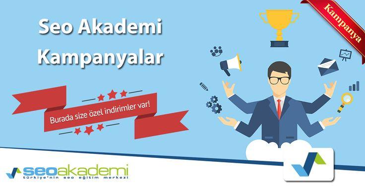 Seo Akademi Kampanyaları – Erken Kayıt Fırsatları Seo ve Sosyal Medya Kursu fırsatı arayanlar hemen kayıt olma şansından yararlanarak eğitimdeki yerlerini alabilirler. Erken kayıtta kaçırılmayacak fırsat 1050 TL yerine sadece 650 TL! http://www.seoakademi.com.tr/erken-kayitta-seo-egitim-zirvesi-firsati/