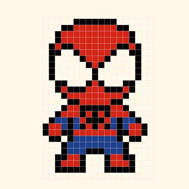 Spiderman hombre araña super heroe marvel avenger vengador template, diseño, molde, plantilla, abalorios, calor, hamma, hama, perler, beads,  patterns, patron, diy, hecho en casa, hazlo tu mismo, niños, manualidad, crafts, actividad, vacaciones, muristar.com, animado, animate, tutorial,