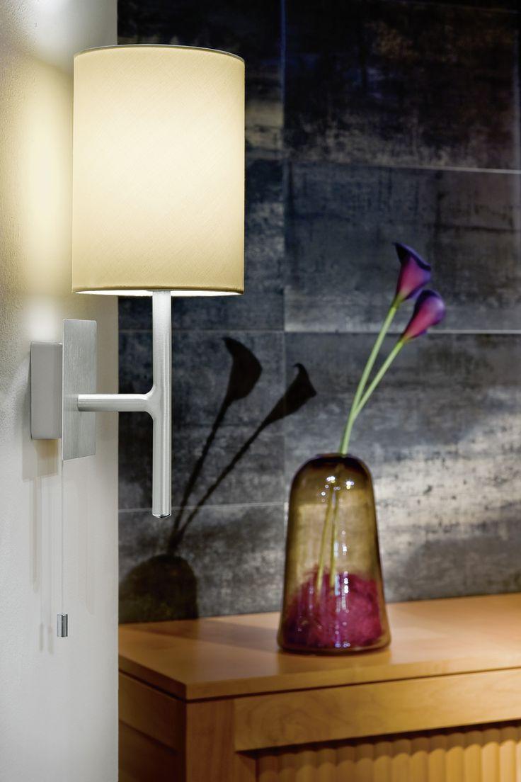 Eglo Lighting / Sendo / Modern Aluminium U0026 Beige Wall Light