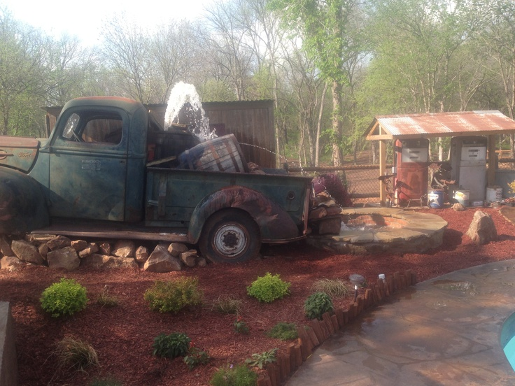 a homemade ol truck water fountain we created quite the