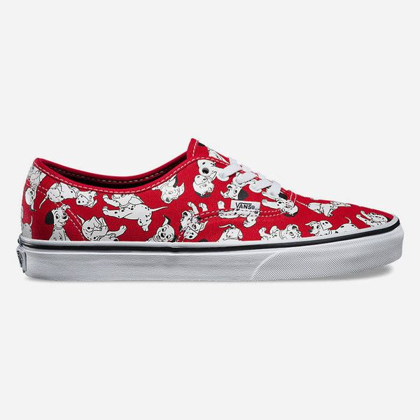 Vans Disney Dalmatians Authentic Womens Shoes (1,065 MXN) ❤ liked on Polyvore featuring shoes, sneakers, red combo, heart shoes, vans sneakers, vans footwear, vans shoes and heart sneakers
