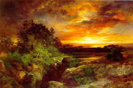 An Arizona Sunset Near the Grand Canyon - Thomas Moran - WikiArt.org