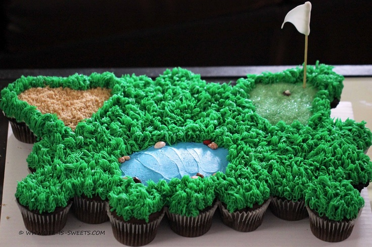 """Life Is Sweets: A Treat """"Fore"""" The Golf Lovers In Your Life! How-to Put Together a Cupcake Golf Course"""