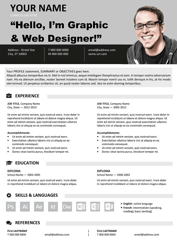 126 best Classic resume templates images on Pinterest Free - free cv template microsoft word