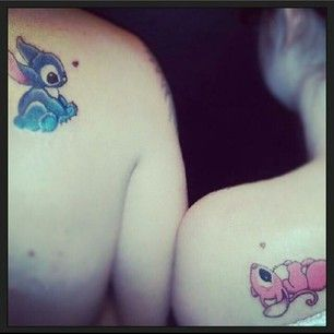 This Lilo and Stitch lovin' pair: | 21 Magical Disney Couple Tattoos