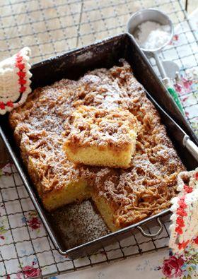 Enkel, saftig og nem æblekage