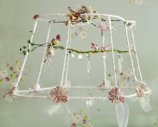 25 best ideas about shabby chic lamps on pinterest for How to make a chandelier out of a lamp shade
