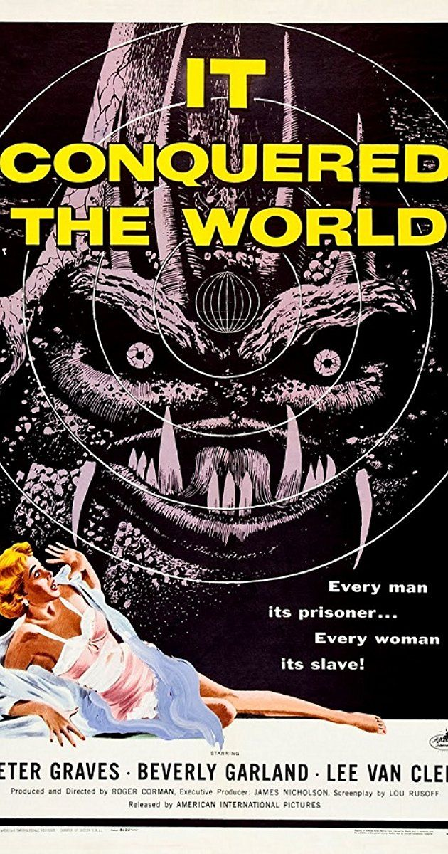Directed by Roger Corman. With Peter Graves, Beverly Garland, Lee Van Cleef, Sally Fraser. A well meaning scientist guides an alien monster to Earth from Venus, so that he can rid mankind of feelings and emotions - but only death and sorrow results.
