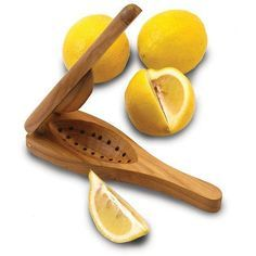 Great to use with tea, a slap of grilled salmon or to add zest to a cocktail, this lemon squeezer juices one slice at a time. Easy to use and clean, this wonderful tool will be a mainstay in your kitchen or at your bar for years to come.