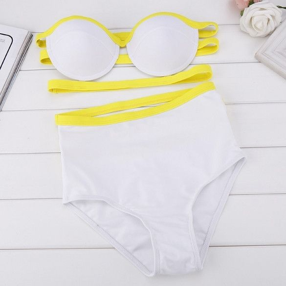 Stylish Sexy Womens High Waist Bandage Bikini Beach Swimsuit Swimwear