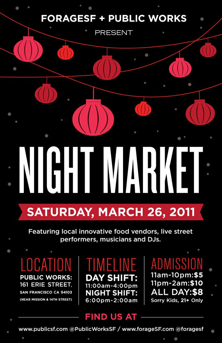 SF Underground Market Poster...offtothemarket.ca