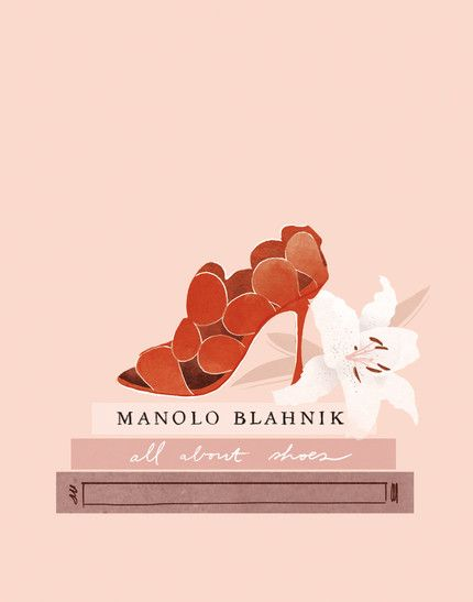 Babeth Lafon - Illustration for Annabelle Magazine Tiphaine-illustration #annabellemagazine #manoloblahnik #shoes