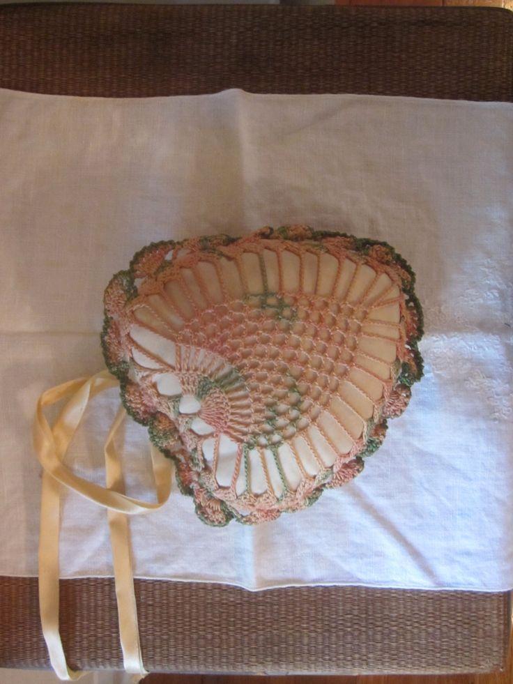 Victorian Sachet Pillows : Victorian Heart Shaped Crocheted Sachet Heart, Sachets and Victorian