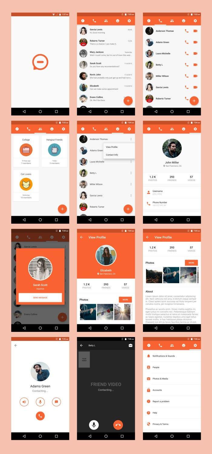 Android Material UI Template 4 1 | Material Design UI