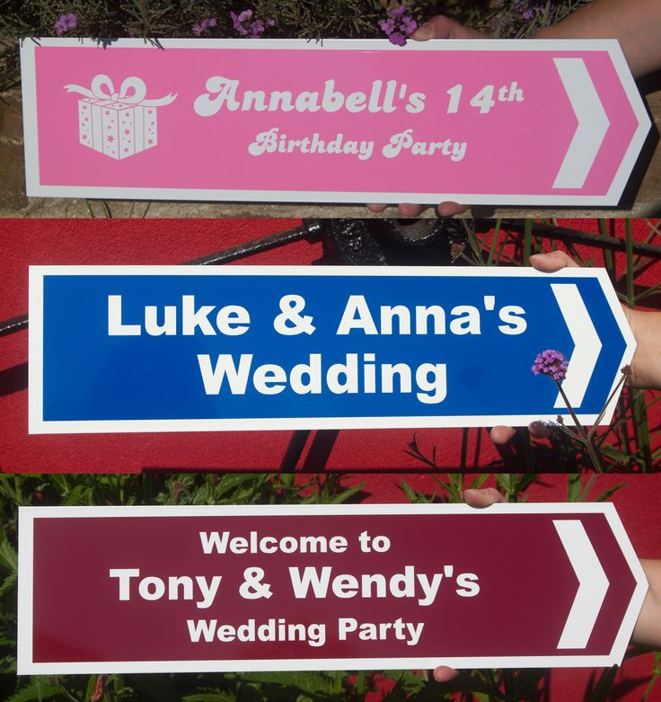directional arrow and direction signs for weddings events from the sign maker probably the most important signs you will need for a wedding or any other