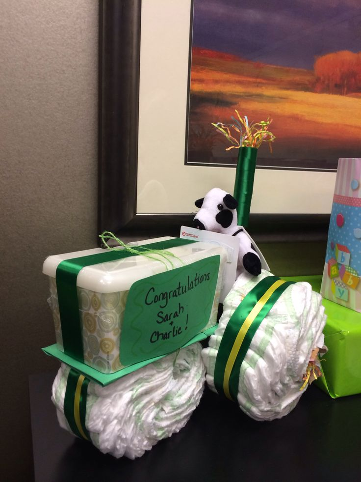 tractor diaper cake instructions