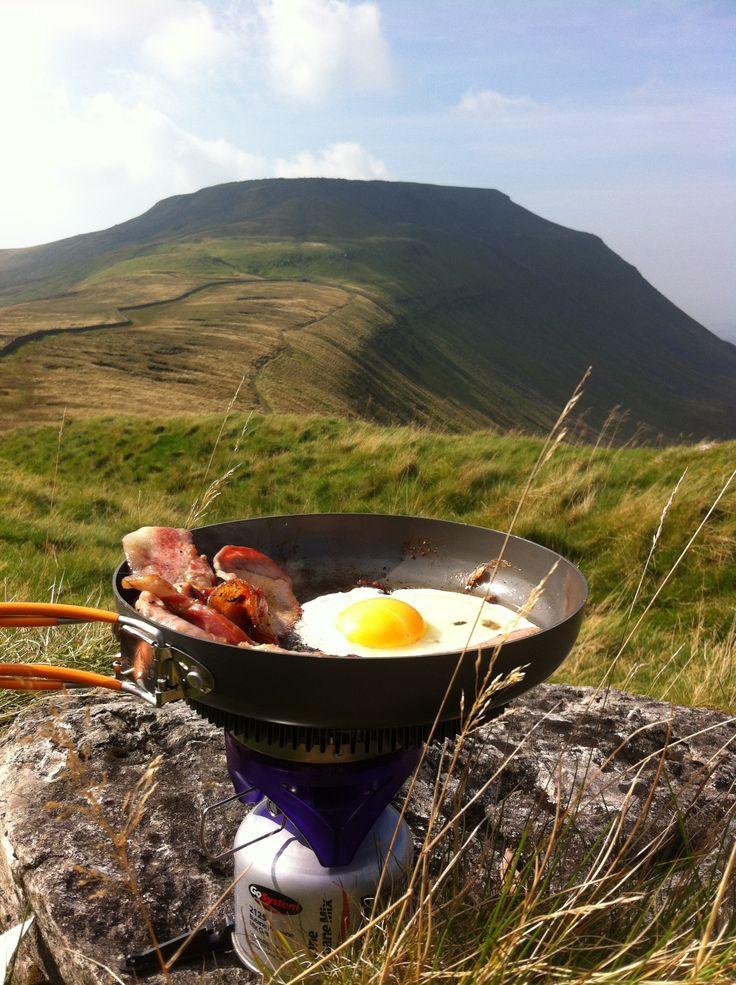 #Bacon #Egg on #Ingleborough Ingleton deep in the Yorkshire Dales