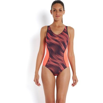 Buy your Speedo Speedo Fit Splice Allover Muscleback - Adult Swimwear from  Wiggle. Our price . Free worldwide delivery available.