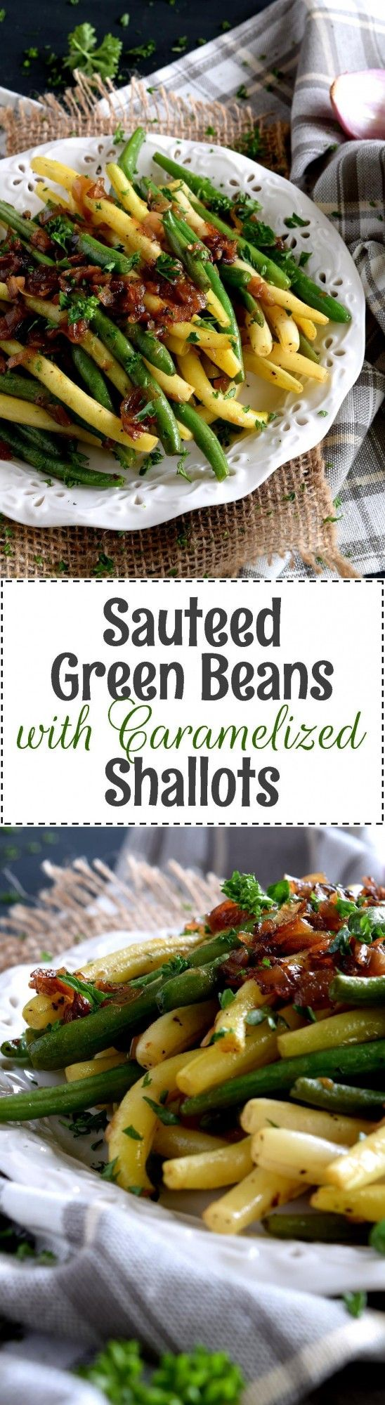 Beautifully and deliciously simple, Sauteed Green Beans with Caramelized Shallots, is a fresh, light, and easy side dish alternative to the popular green bean casserole – no need for heavy creamed soup additives here! Green beans or yellow beans, or a…