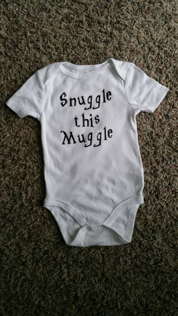 Funny Baby Bodysuit Snuggle this Muggle Harry Potter by WordsOfIvy                                                                                                                                                                                 More