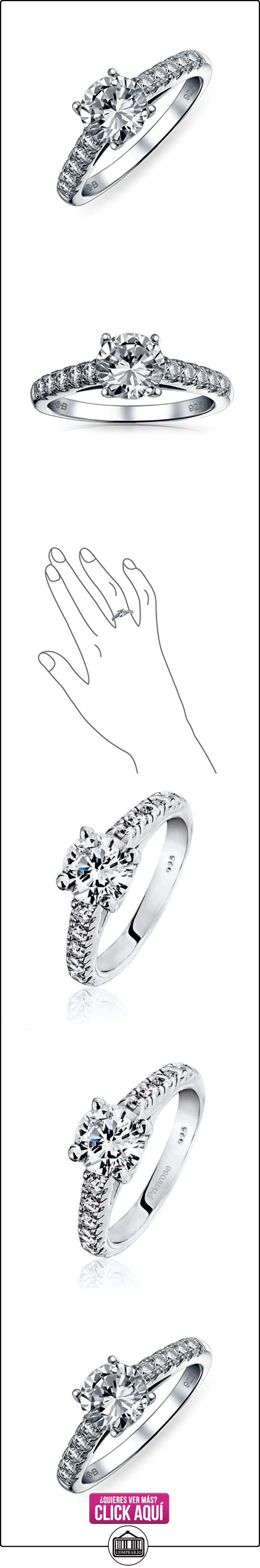 Bling Jewelry Plata Esterlina Allanar CZ redondo Solitario Anillo de Compromiso  ✿ Joyas para mujer - Las mejores ofertas ✿ ▬► Ver oferta: https://comprar.io/goto/B002XCMJGG