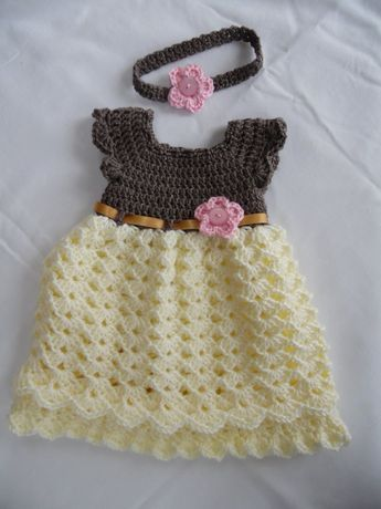 1141451ef Handmade Baby Crochet Dress and MaryJane Set