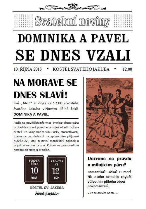 Svatební noviny / Zboží prodejce Simča2 | Fler.cz