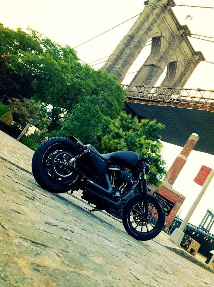 The iron lives. Custom Harley Davidson Sportster iron 883 bobber