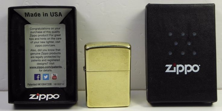 Original Genuine Zippo Lighter - Solid Brass, Boxed 1605828 #Zippo