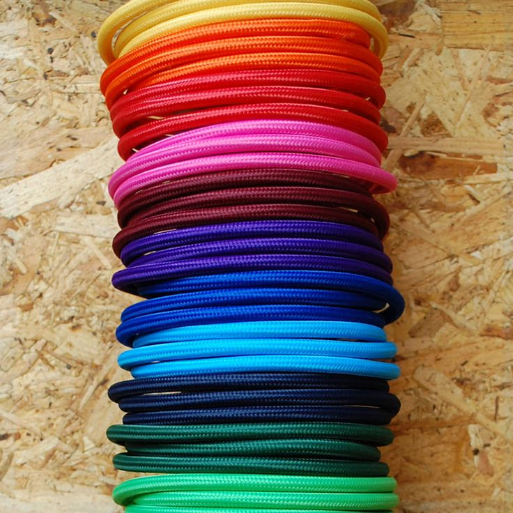 Coloured Fabric Lighting Cable 18 Colours