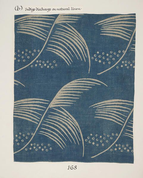 Small feather: Hand block-printed linen by Phyllis Barron and Dorothy Larcher, UK, ca. 1930.