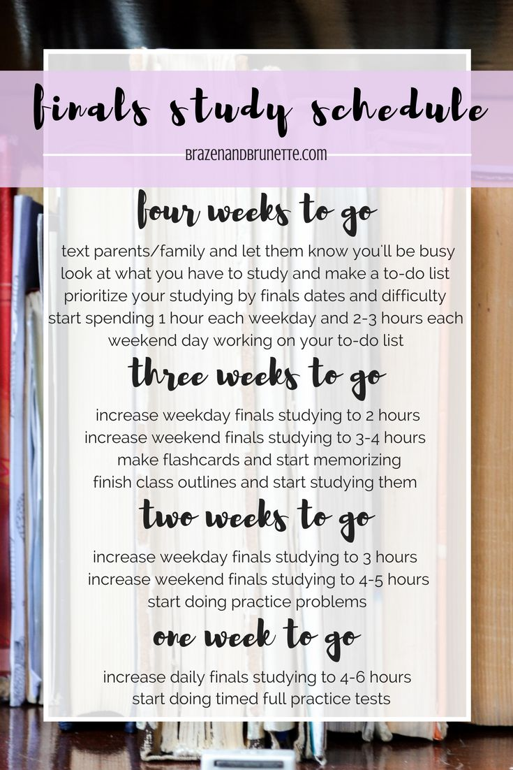 How to Make a Final Exam Study Schedule - College Info ...