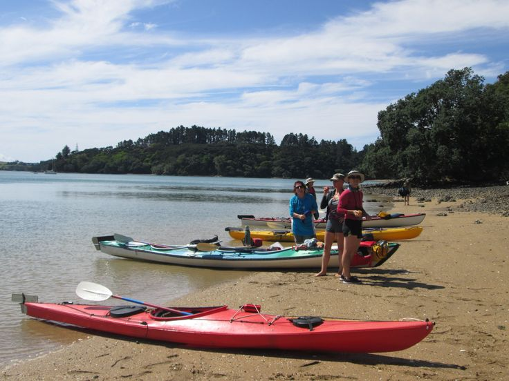 Stopping for a gourmet picnic lunch. Sea Kayak the Bay of Islands with Womens Holidays from 14th-18th February 2017. See our website for more details and to book www.womensholidays.com