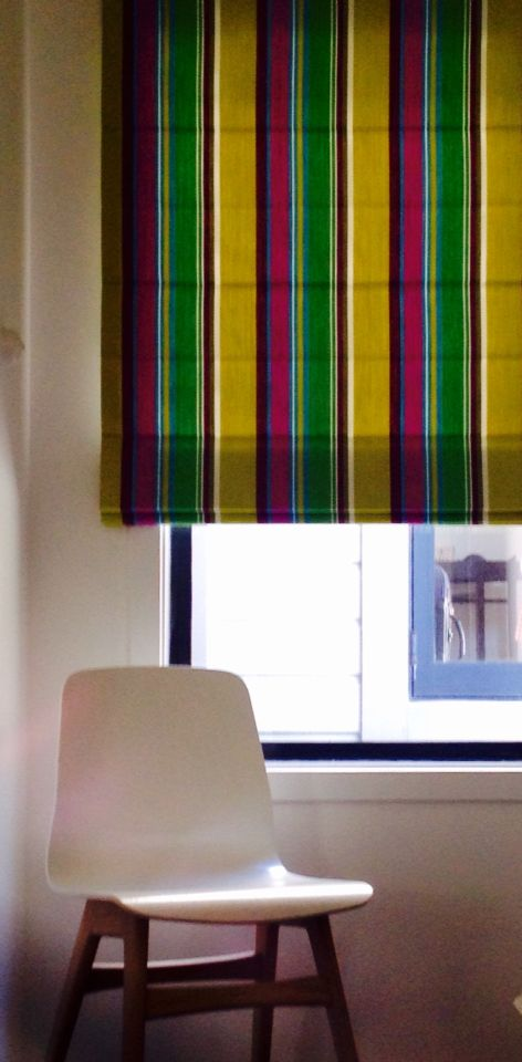 #curtaineasy #romanblind #frenchstripe colour big top http://curtaineasy.co.nz/fabric/french-stripe-big-top