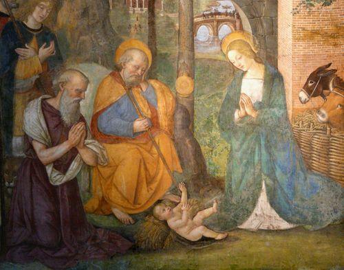 S.Maria del Popolo Pinturicchio- Natività con S. Girolamo
