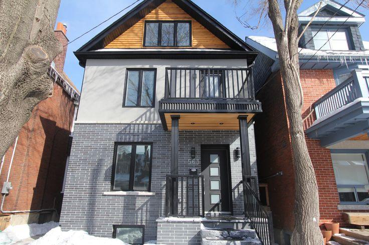 For sale, 563 St Clarens Ave, Toronto, real estate, Bloordale Village, 3 bedroom, 4 bathroom, home, cedar, brick, exterior