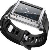 TURN IPOD into IWATCH - (own it - it rocks) LunaTik Blackout. Made from aircraft grade aluminum - conversion kit designed for those wanting to dedicate their iPod Nano primarily as a wrist watch.  Compatible with iPod Nano 6th/7th Generation