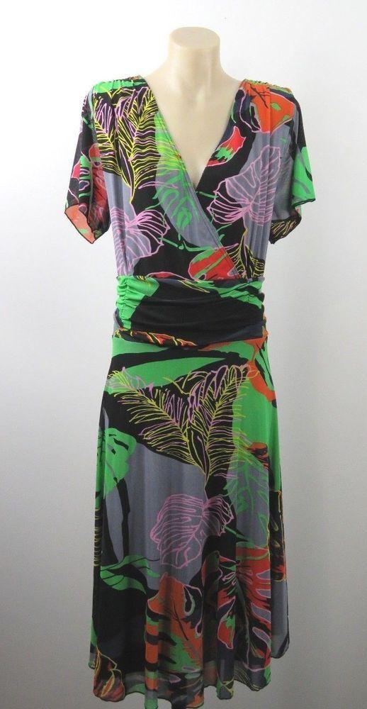 Plus Size 3XL 20 Ladies Dress Mock Wrap Boho Chic Work Casual Cocktail Design #TresBelle #WrapDress #PartyCocktail