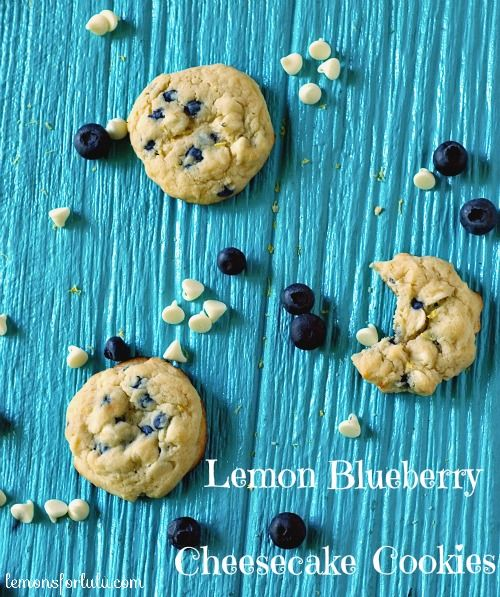 Lemon Blueberry Cheesecake Cookies | lemonsforlulu.com
