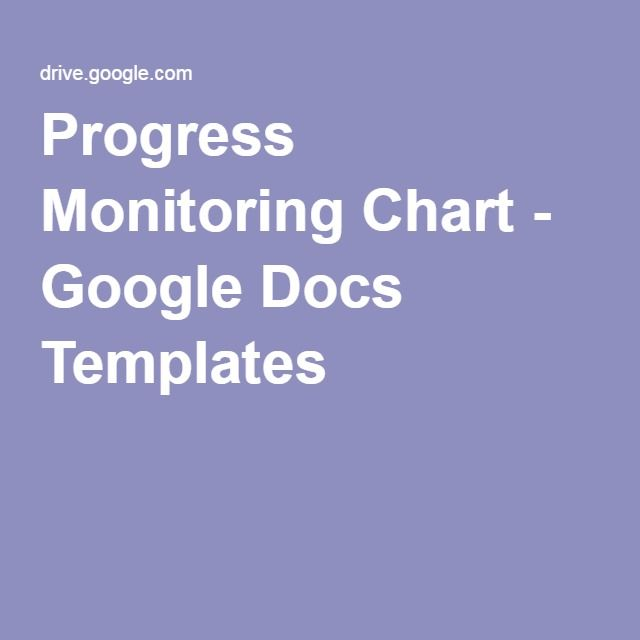 Progress Monitoring Chart - Google Docs Templates