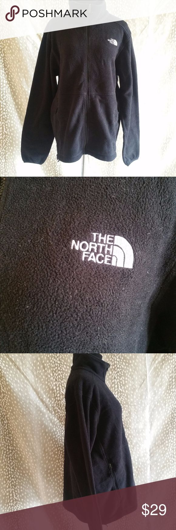 The North Face Men's Jacket Zip Up Size L Style: Men's Zip Up Jacket ( OW 02 - 686)  Brand: The North Face   Material: 100% Polyester   Measurements: Length 25 Pit To Pit 23  Color: Black   Size: Large   Condition: Great   Country Of Manufacture: Mexico The North Face Jackets & Coats