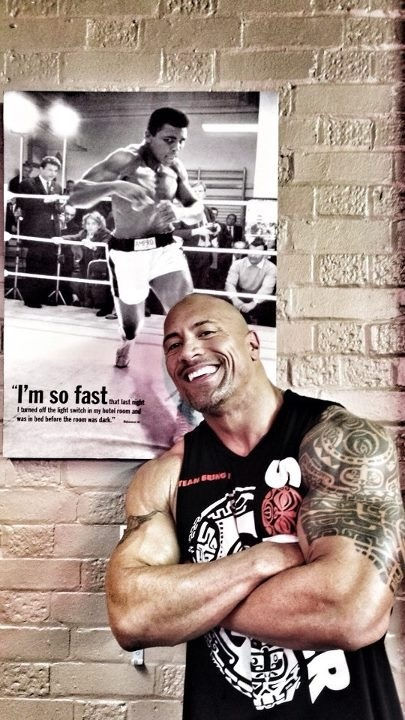 I'm not usually into all this muscle, but somehow the rock makes it work. He is just a piece of art!