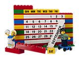 Lego Calendar...I'm totally going to make this myself with vinyl letters/numbers