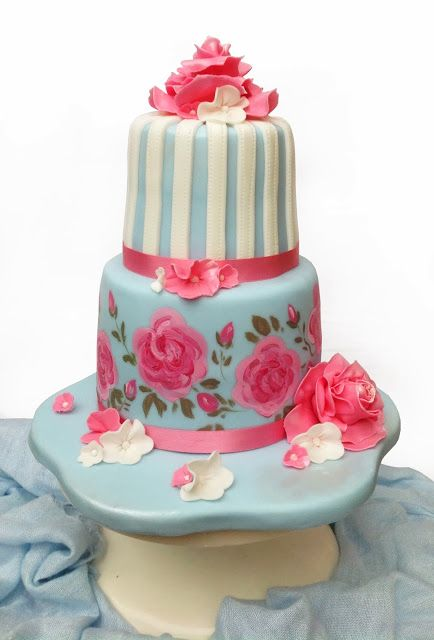 Delicious Designs by Jill Pryor: Cath Kidston Inspired Birthday Cake