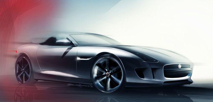 New Jaguar F-TYPE Concept Sketch - exterior - Beaven #jaguar #FTYPE @jaguarusa