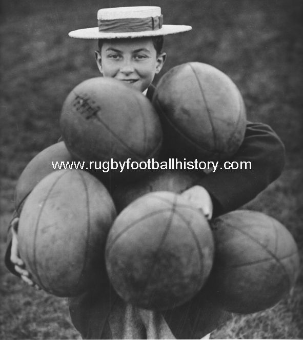 Harrow School Pupil Circa 1935 Credit Getty Images William Gilbert had a boot and shoe makers shop next to Rugby school in the high street and started making balls for the school out of hand stitched, four panel, leather casings and real pigs bladders (he also made catapults for the boys).