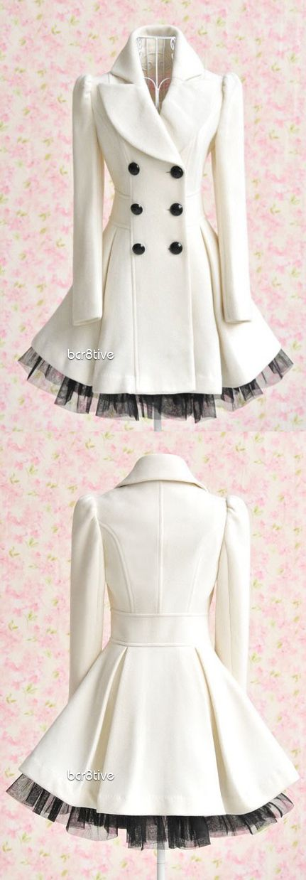 "Princess Lolita - Long Lace White Jacket Coat (perhaps not ""designer"" but very cute)"