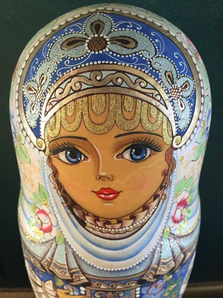 FINE ART, MATRYOSHKA, RUSSIAN NESTING DOLLS, SIGNED BY ARTIST, 2000, 7 PIECES
