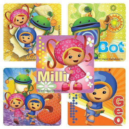 Team Umizoomi Stickers - 75 Per Pack